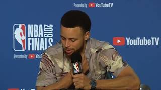 Steph Curry ILOKANO INTERVIEW after Game 3 - FINALS 2019