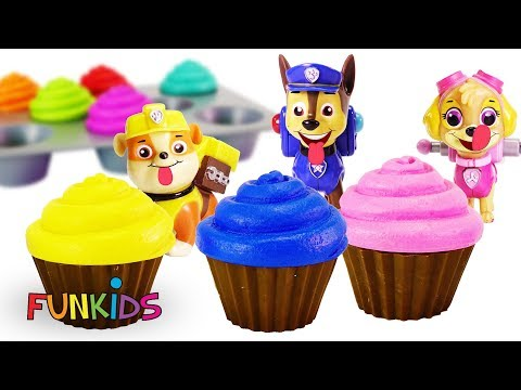Learn Colors with Paw Patrol Skye Cupcakes Sprinkles & Icing