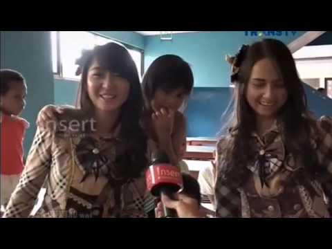 Liputan Ve, Yupi & Stefi JKT48 Sambangi Panti Asuhan @ Insert Trans TV 161224