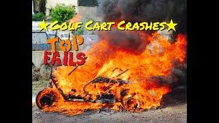 Golf Cart Crashes! Golf Cart Fails, Golfing Fails, Best Golf Fails! Golf Cart Crash Compilation 2019