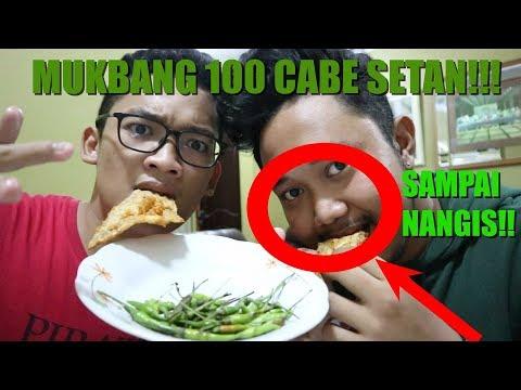 MUKBANG CHALLENGE MAKAN 1 GORENGAN DENGAN 100 CABE RAWIT(PEDAS GILA!!!!)