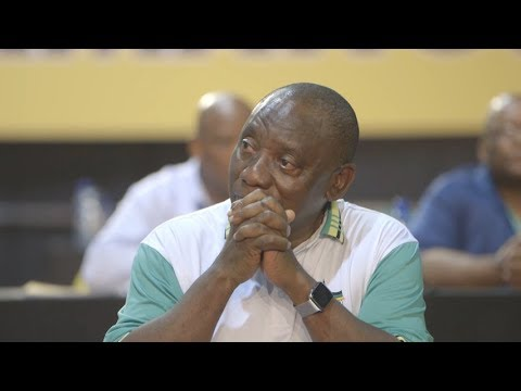 The moment Cyril Ramaphosa won the ANC presidential race
