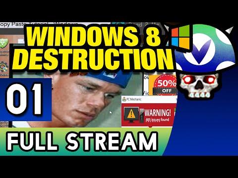[Vinesauce] Joel - Windows 8 Destruction ( FULL STREAM ) ( Part 1 )