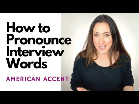 How To Pronounce Interview Words {American Accent}