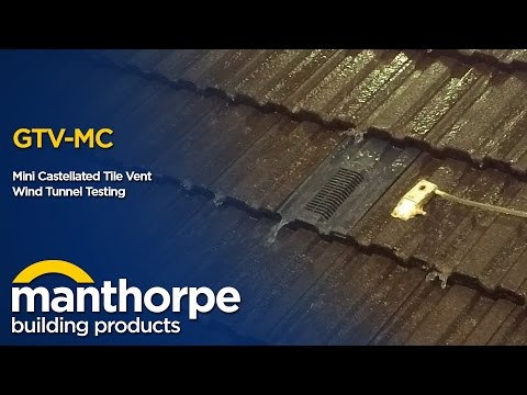 Manthorpe Building Products - Mini Castellated Tile Vent - Wind Tunnel Testing