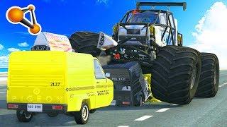 BeamNG Drive - Ibishu Pigeon Monster Truck Crash testing