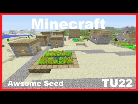 Minecraft Awsome Seed! 5 VILLAGES! (Xbox360,PS3)
