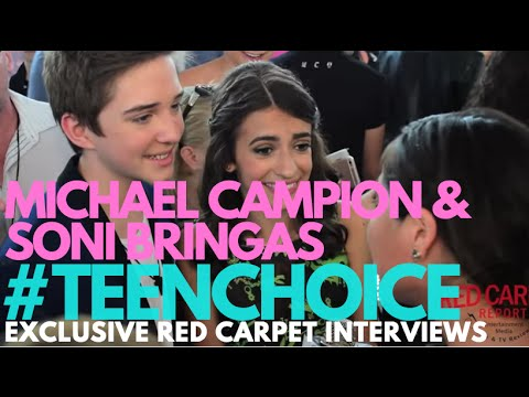 Michael Campion & Soni Bringas #FullerHouse interviewed at 2016 Teen Choice Awards #TeenChoice