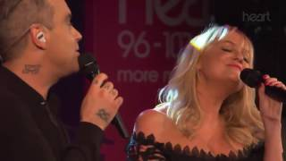 Robbie Williams & Emma Bunton - 2 Become 1 Live At Heart Radio All ...
