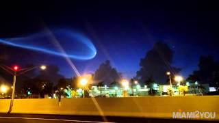 Atlas 5 Launch rocket / Unknown flying object in Miami Florida skyline 6.22AM / NASA / UFO