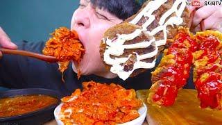 삼겹김치두루치기와 얼큰한 육개장 그리고 마요네즈떡갈비 케찹동그랑땡 먹방 새로운 밥도둑주의 REAL SOUND MUKBANG
