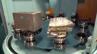 Matsuura MX330 5 axis machine requires bigger swarf bins to cope with metal removal