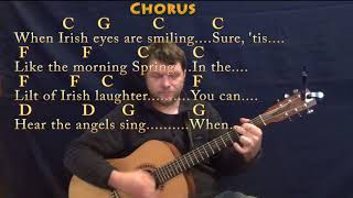 When Irish Eyes Are Smiling (Traditional) Guitar Lesson Chord Chart in C with Chords/Lyrics