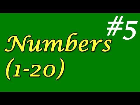 5- Numbers 1-20 (Sayılar 1-20)
