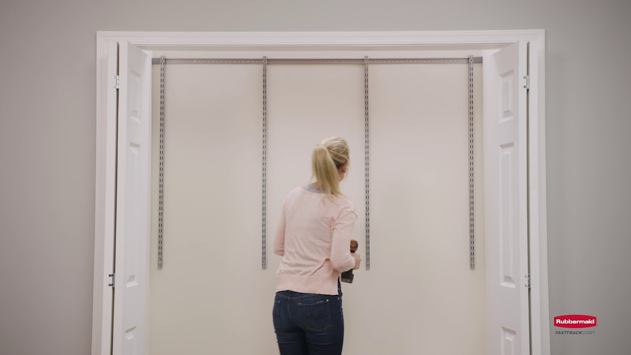 Installing Rubbermaid® FastTrack™ Expandable Closet