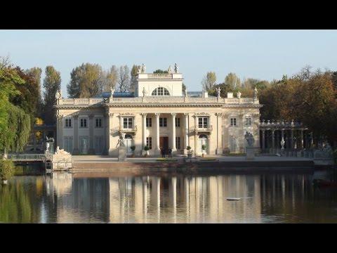 Warszawa łazienki Królewskie Pałac Na Wodzie Belweder Stara Pomarańczarnia Pomnik Chopina