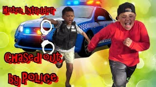 POLICE CHASE OUT HOTEL INTRUDER!!! KID IS OUT OF CONTROL!