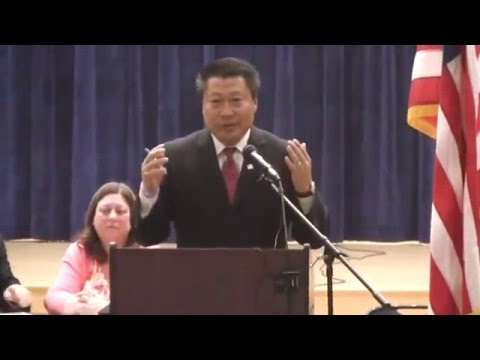 Tony Hwang gives his nomination acceptance speech