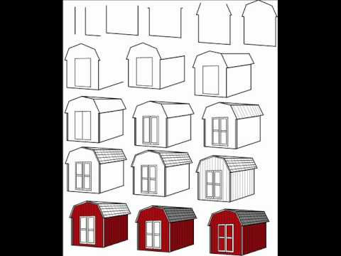 How To Draw A Simple Red Barn Step By Drawing Tutorial