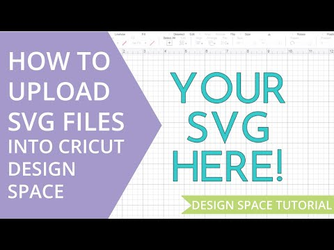 How to Upload a SVG File In Cricut Design Space - YouTube