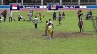 Prelims Match (2nd Half): Singapore A vs Malaysia A