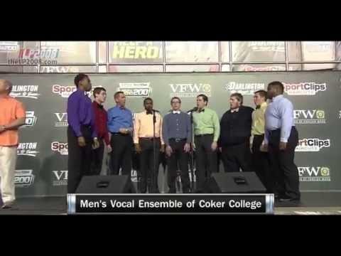 Men's Vocal Ensemble of Coker College @ Darlington VFW Sport Clips Help a Hero 200