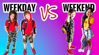 OUR WEEKDAY VS. WEEKEND OUTFITS | Familia Diamond