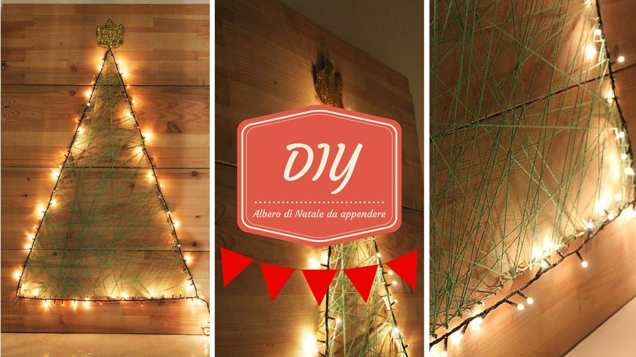 Alberi Di Natale In Legno Da Appendere : Diy natalizio come realizzare un albero di natale da appendere