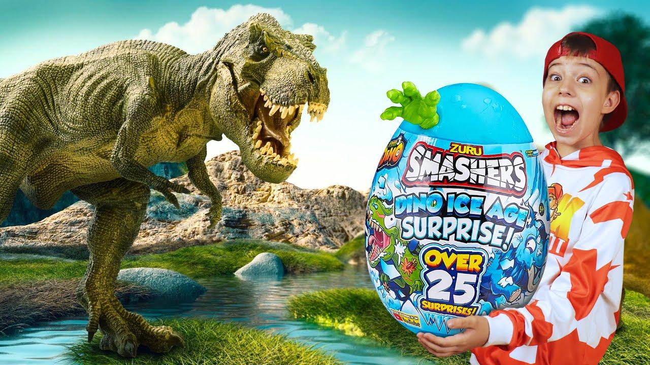 НАШЕЛ ЯЙЦО ДИНОЗАВРА! Что внутри??? // Zuru Smashers - яйцо динозавра с сюрпризом!