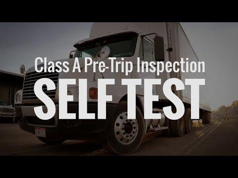 🎬 CDL Class A Pre Trip Inspection SELF TEST