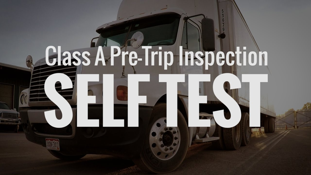 Pretrip Inspection Self-Test By CDL College