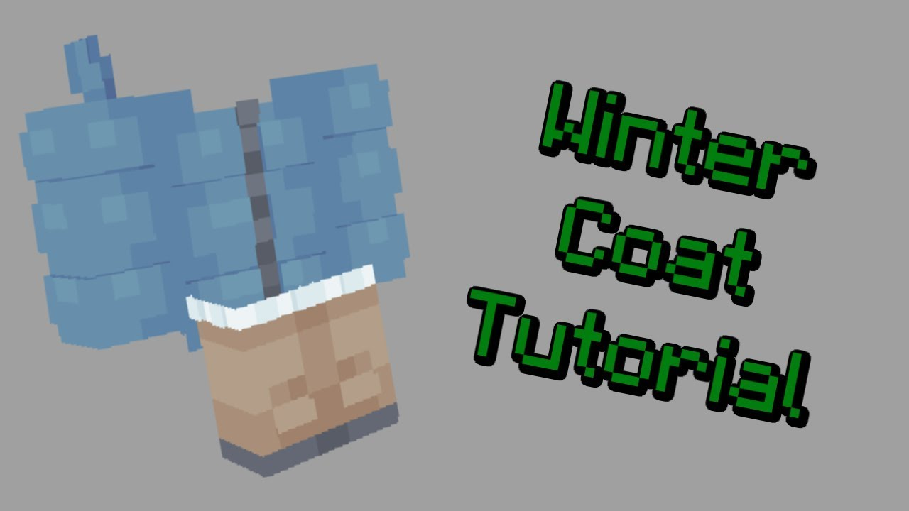 How to Make a Winter Coat on Your Minecraft Skin - SKIN-MAS #8