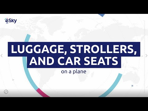 Luggage, strollers, and car seats on a plane - Travel guide