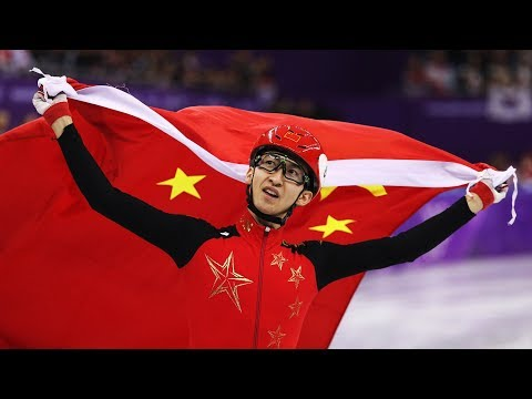 China's Wu Dajing wins men's 500m short-track speed skating at PyeongChang