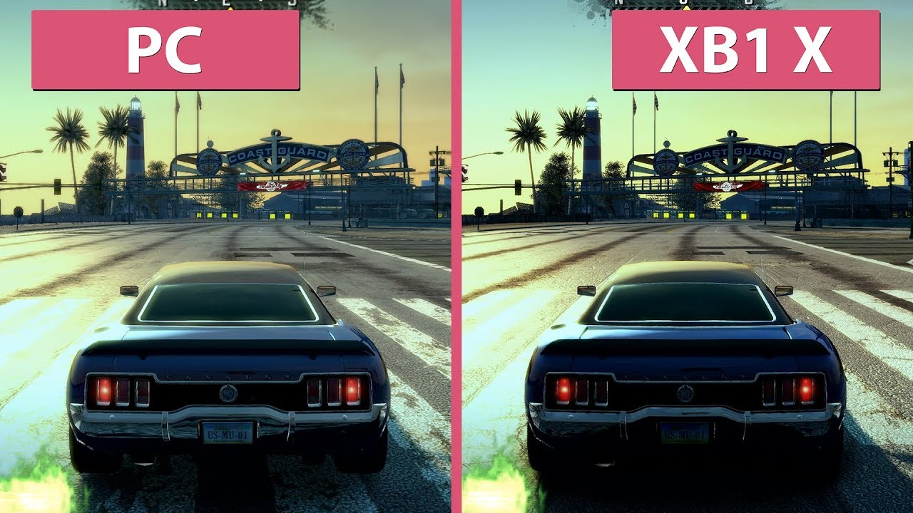 [4K] Burnout Paradise – PC (2009) vs  Xbox One X (2018) Remastered Graphics  Comparison