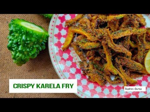 Crispy Karela fry recipe   Rashmi Gurao   vadani kaval