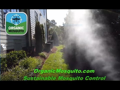 Spraying Yards in Raleigh NC for Mosquitoes with Garlic Barrier