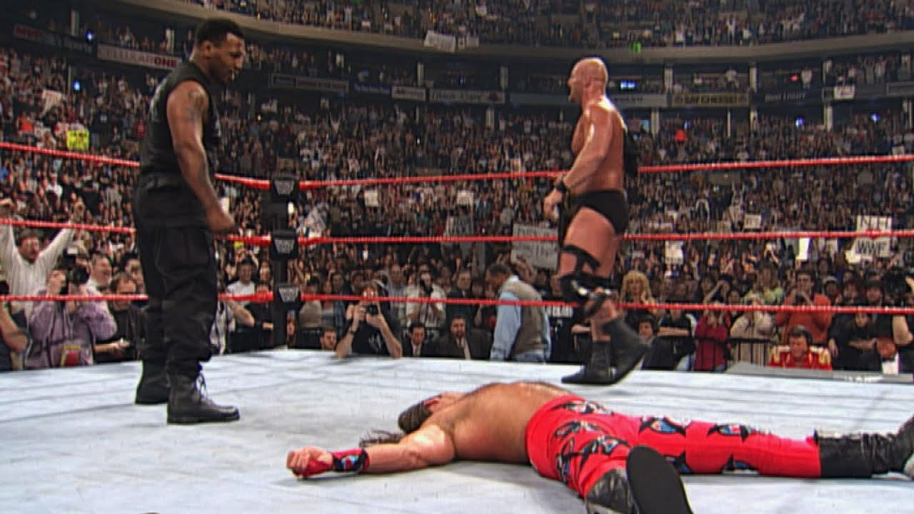 Mike Tyson knocks out Shawn Michaels with a right hook: WrestleMania XIV