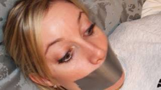 Repeat youtube video Girl Duct Taped To Bed