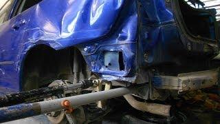 Кузовной ремонт.Mazda body repair.(Рихтовка заднего крыла и двери. другие работы можно посмотреть здесь http://andrey45.blogspot.ru/ http://vk.com/andreyshadrinsk., 2014-02-16T13:56:06.000Z)