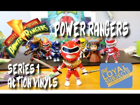 MIGHTY MORPHIN POWER RANGERS x The Loyal Subjects WAVE 1 unboxing video - MINI ACTION FIGURES!