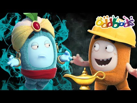 ODDBODS NEW EPISODES - Genie And The Magical Lamp Funny Cartoon thumbnail