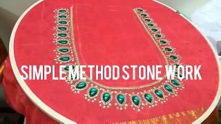 Blouse Nick Kundan Work Dropshape Method