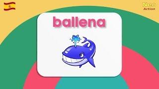 ИСПАНСКИЙ для детей. Учим животных на испанском языке! (морские)