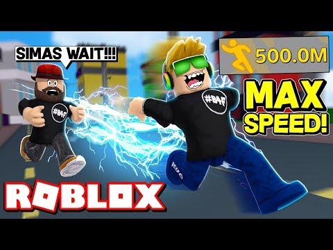 I AM SUPER FAST in ROBLOX LEGENDS OF SPEED!!!