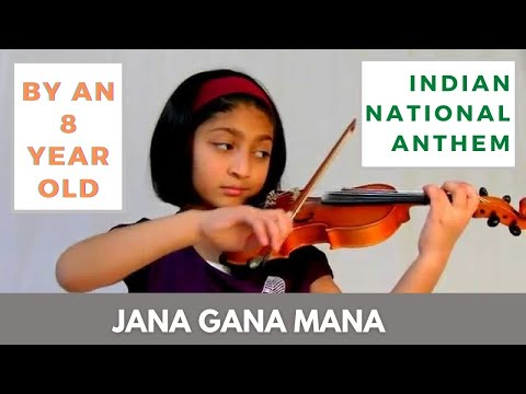 AWESOME - Jana Gana Mana - Indian National anthem by 8 yr old