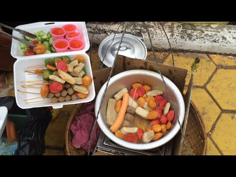 Asian Street Food - Fast Food Street in Asia, Cambodian food #70, Hot Dogs, Beef Meatballs