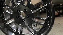 Powder Coating Wheels in Black Chrome
