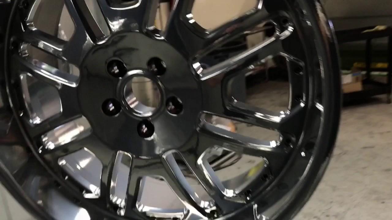 Powder Coating Wheels in Black Chrome | Doovi