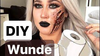 DIY Fake Wounds with toilete paper I DIY Wunden aus Toilettenpapier I Halloween Make Up  I Marina Si